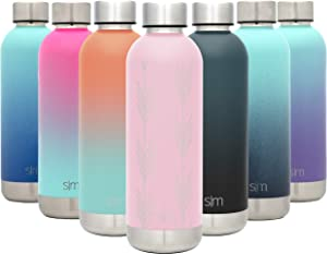 Simple Modern 17oz Bolt Sports Water Bottle - Stainless Steel - Double Wall Vacuum Insulated - Leak Proof Bottle Design: Arrows