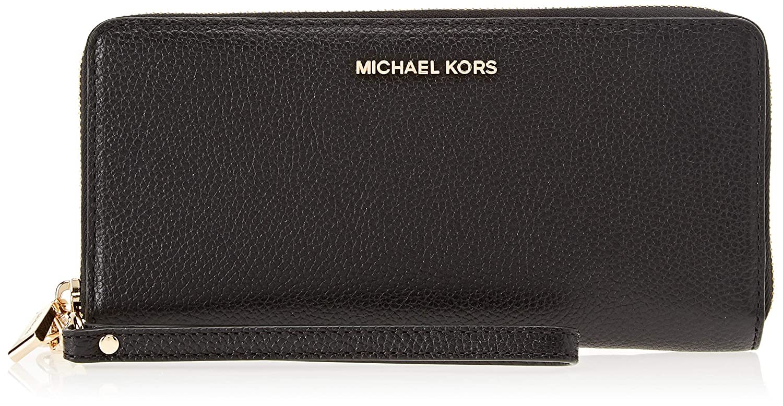 Michael Kors - Leather Continental Wristlet, Carteras de mano con asa Mujer, Negro (Black), 2.5x10.2x21.6 cm (B x H T): Amazon.es: Zapatos y complementos