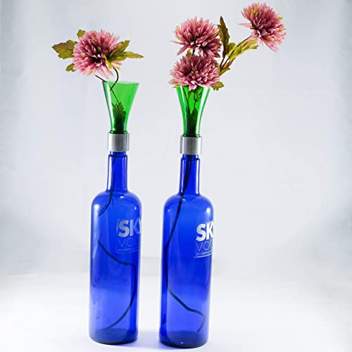 225 & Amazon.com: Recycled Sky Vodka Cobalt Blue Bottle Flower ...