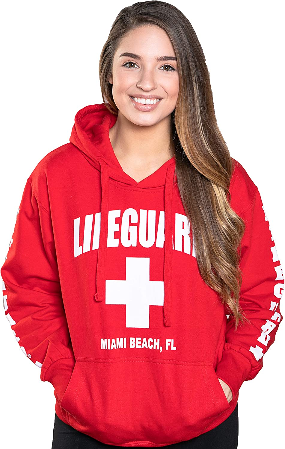 LIFEGUARD Official Ladies Miami Beach FL Hoodie: Clothing