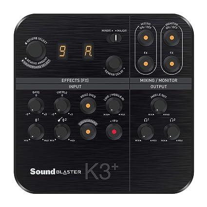 Amazon.com: Creative Sound Blaster K3+ - Mezclador digital ...