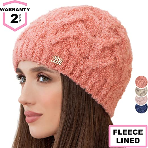 118ae2d1702 Braxton Beanie for Women - Knit Winter Warm Fashion Fleece Hat ...