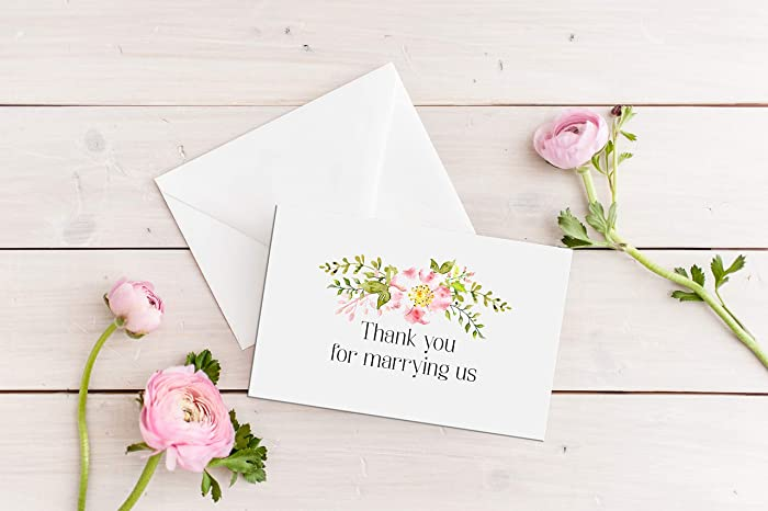 Amazon Com Thank You For Marrying Us Officiant Card