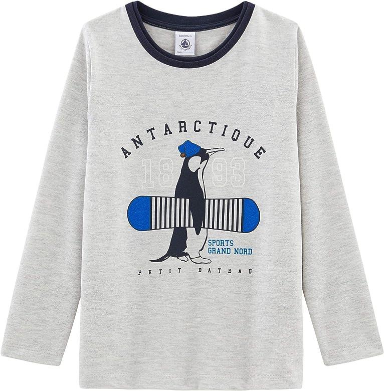 Petit Bateau tee Shirt Ml_5096602 Camisa Manga Larga, Gris (Beluga Chine 02), 98 (Talla del Fabricante: 3años/95centimeters) para Niños: Amazon.es: Ropa y accesorios