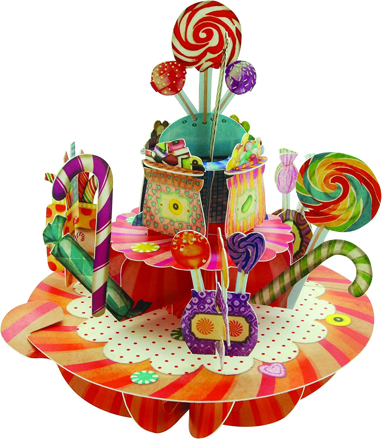 Santoro Pirouettes Sweets and Candy 3D Pop Up Card