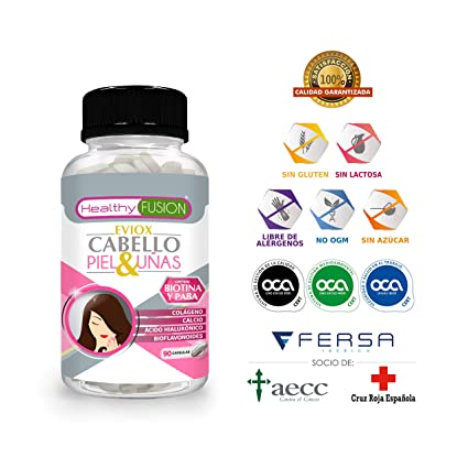 Prevención Anticaída con Activadores del Crecimiento del Cabello + Hidratante de la Piel + Fortalecedor de Uñas –El producto más completo del mercado ...