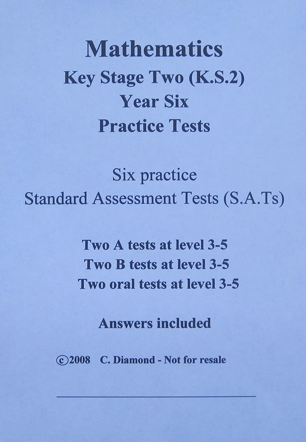 Ks2 Maths Practice Sats Papers Pdf File To Print Out Amazon