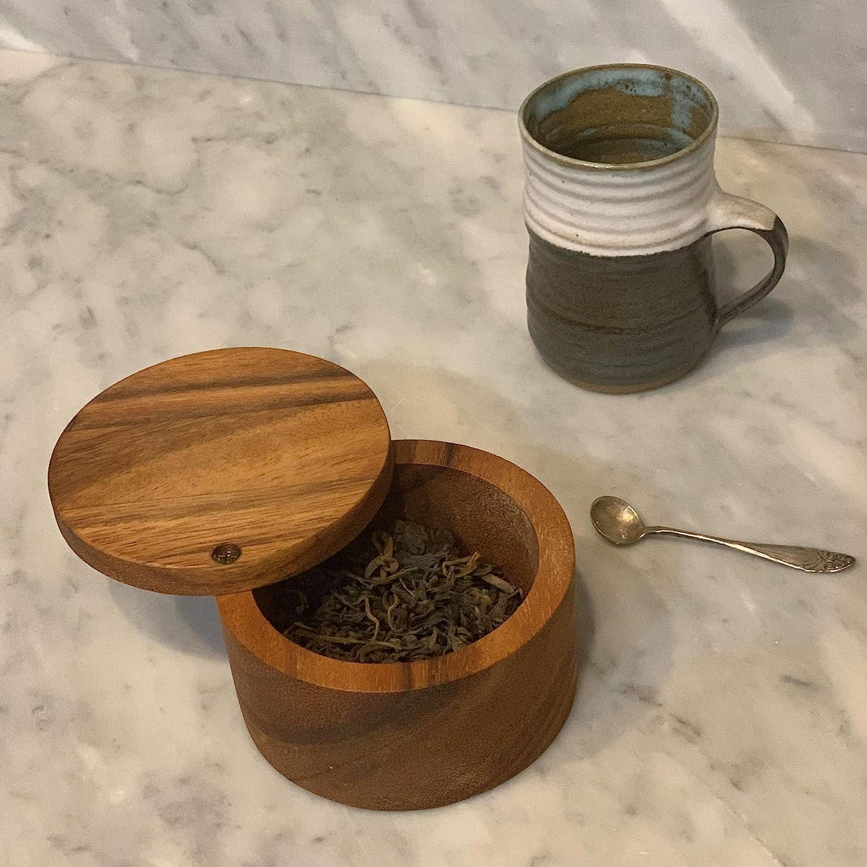 Ironwood Gourmet Appalachian Salt Cellar Acacia Wood Pack of 2