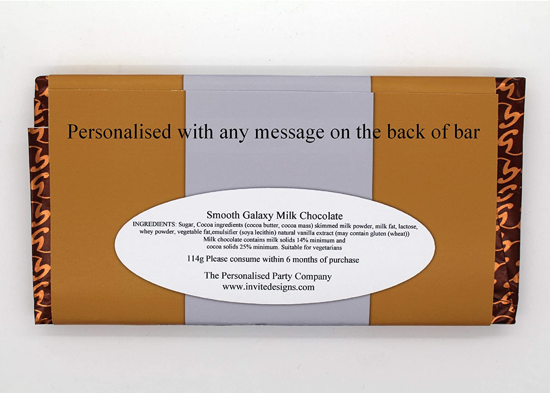 Personalised Galaxy Chocolate Bar SENIOR MOMENTS JOKE Birthday Christmas N75