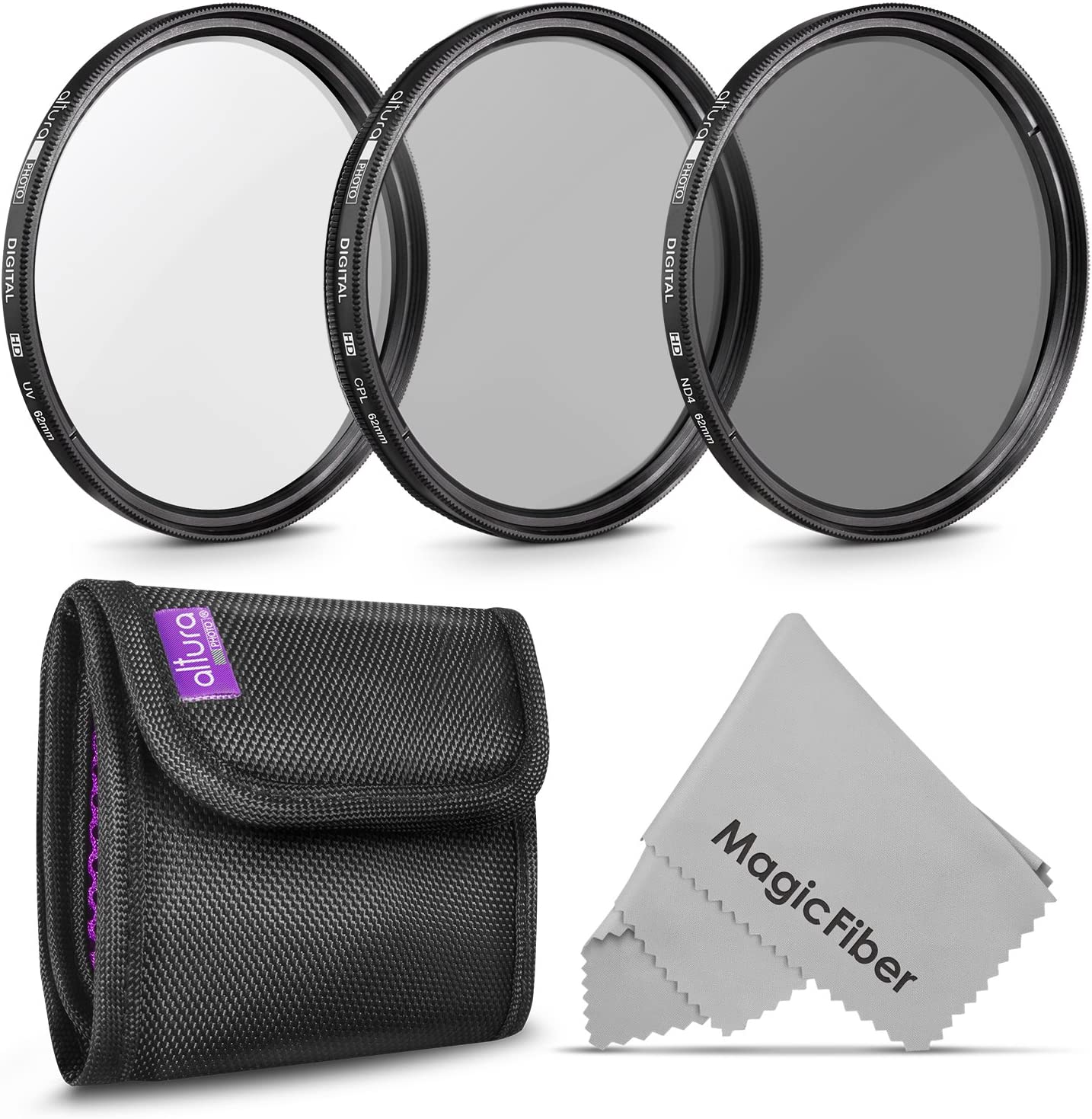 Diving Cloth Protective Lens Pouch Case Bag with Kit Hook for DSLR Camera