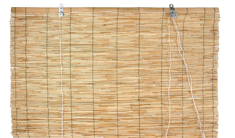 Verdemax 6708/1,2/x 2,6/m Raw bamb/ú Roller-Blind Cierre por Hilo de Nailon con Polea