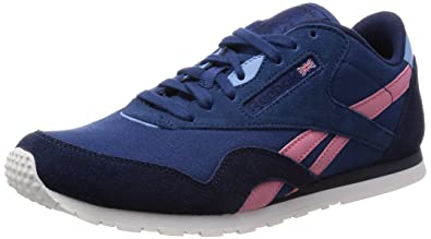 6f8982480a5847 Reebok Classic Nylon Slim Colors Womens Sneakers Shoes-Blue-5.5