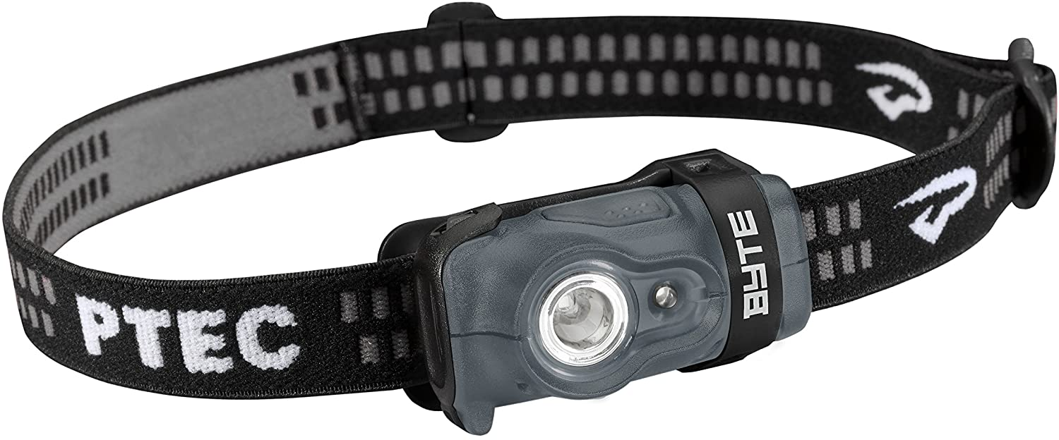 Image of the PTECByte hradlamp for boys, in black color.