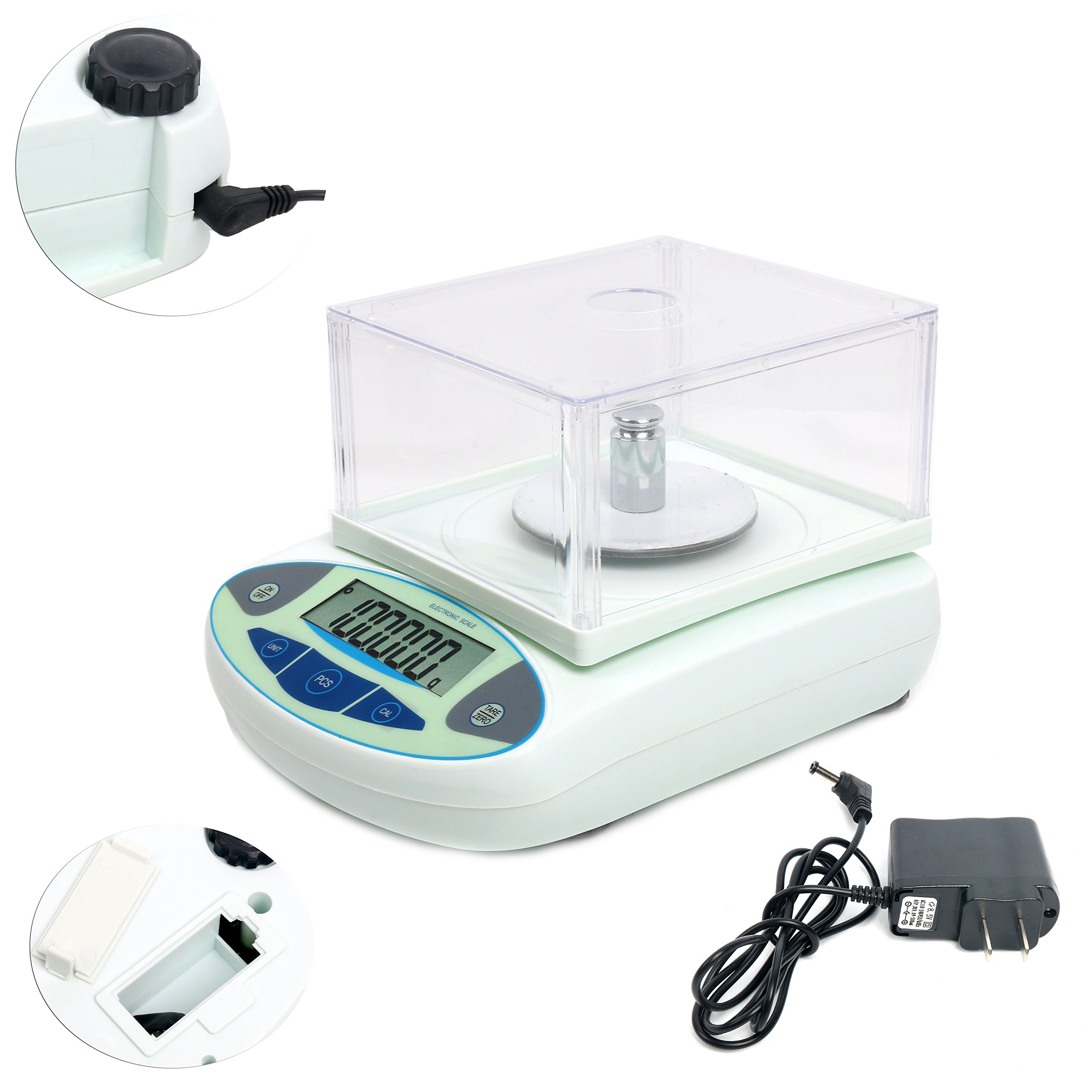 100/200 x0.001g 1mg Lab Analytical Balance Digital High Precision Balance Electronic Scale Jewelry Scale (100x0.001g) by YaeCCC