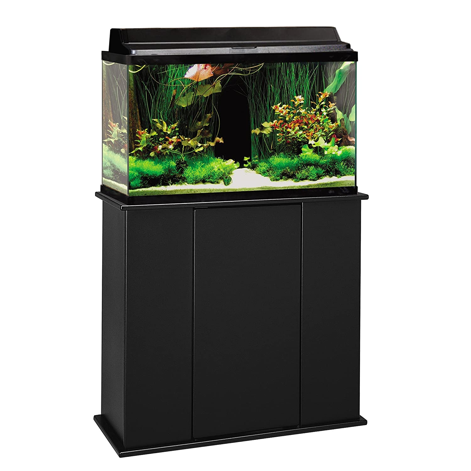 Amazon Aquatic Fundamentals Black Upright Aquarium Stand for