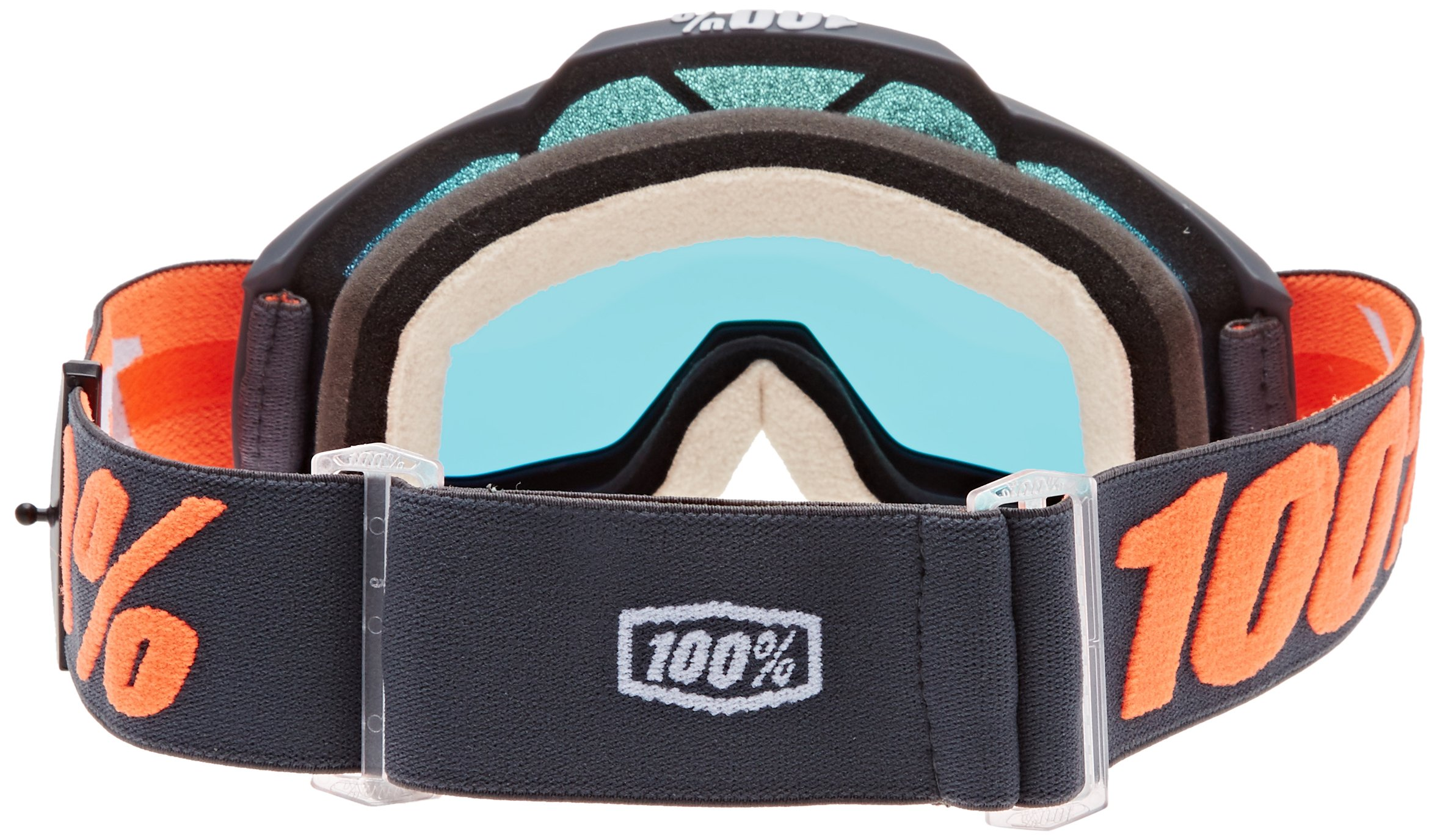 100% 50210-025-02 unisex-adult Goggle (Gunmetal,Mirror Red,One Size) (ACCURI ACC Gray Multi-layer Mirror Lens/Red) by 100%