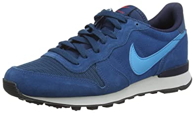 Nike Internationalist Leather, Chaussons Sneaker Homme - Bleu (Blue Force/Blue Lagoon-