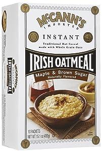 McCann's Instant Irish Oatmeal - Maple Brown Sugar - 15.1 oz - 10 ct