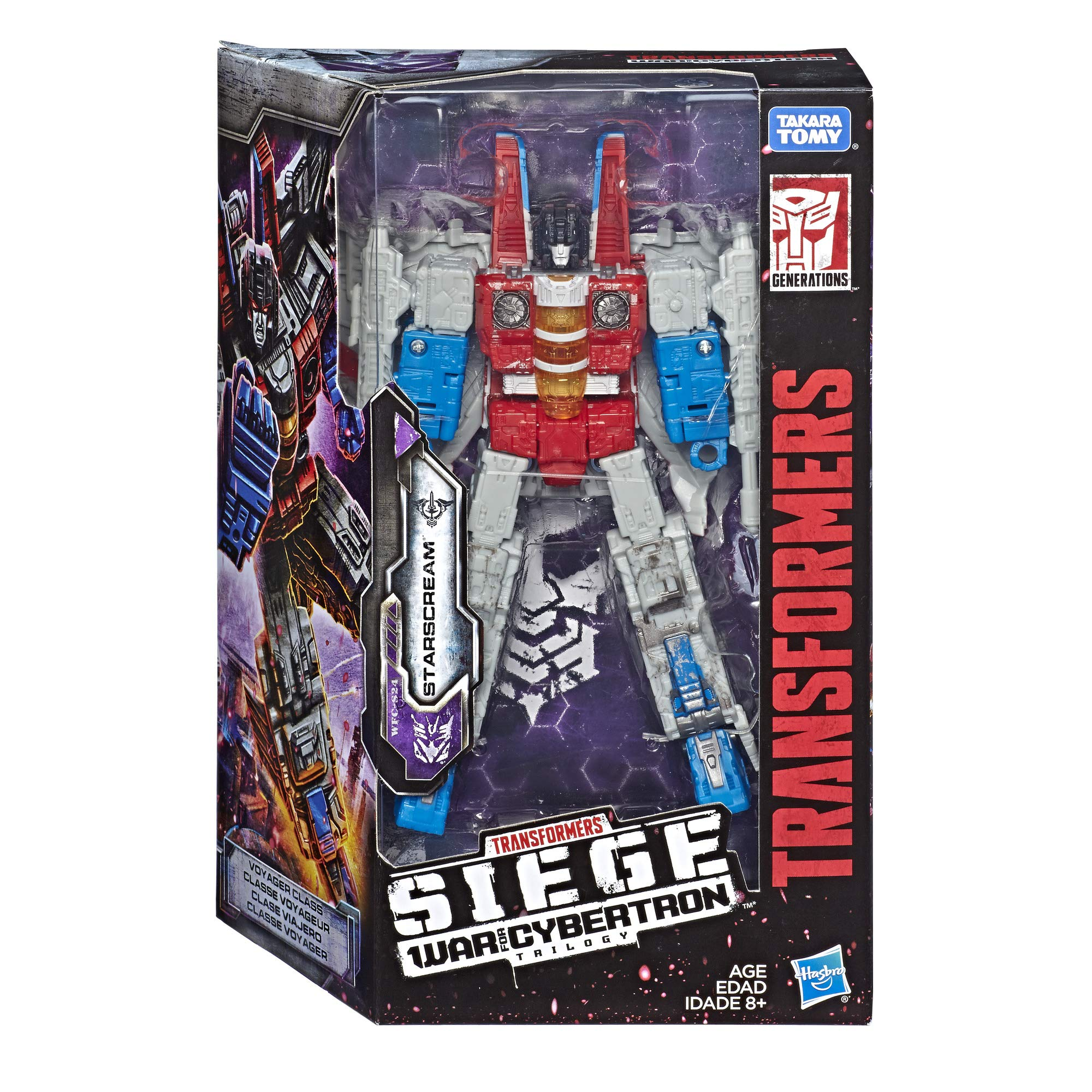 Transformers Toys Generations War for Cybertron Voyager Wfc-S24 Starscream Action Figure - Siege Chapter - Adults & Kids Ages 8 & Up, 7'' by Transformers (Image #2)