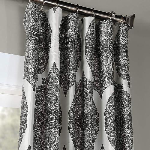 HPD Half Price Drapes PTPCH-170805B-84 Designer Printed Blackout Curtain 1 Panel