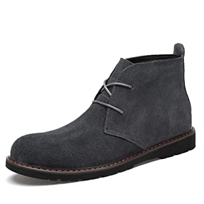 Men's Leather Classic Chukka Boots Lace up Shoes | Chukka