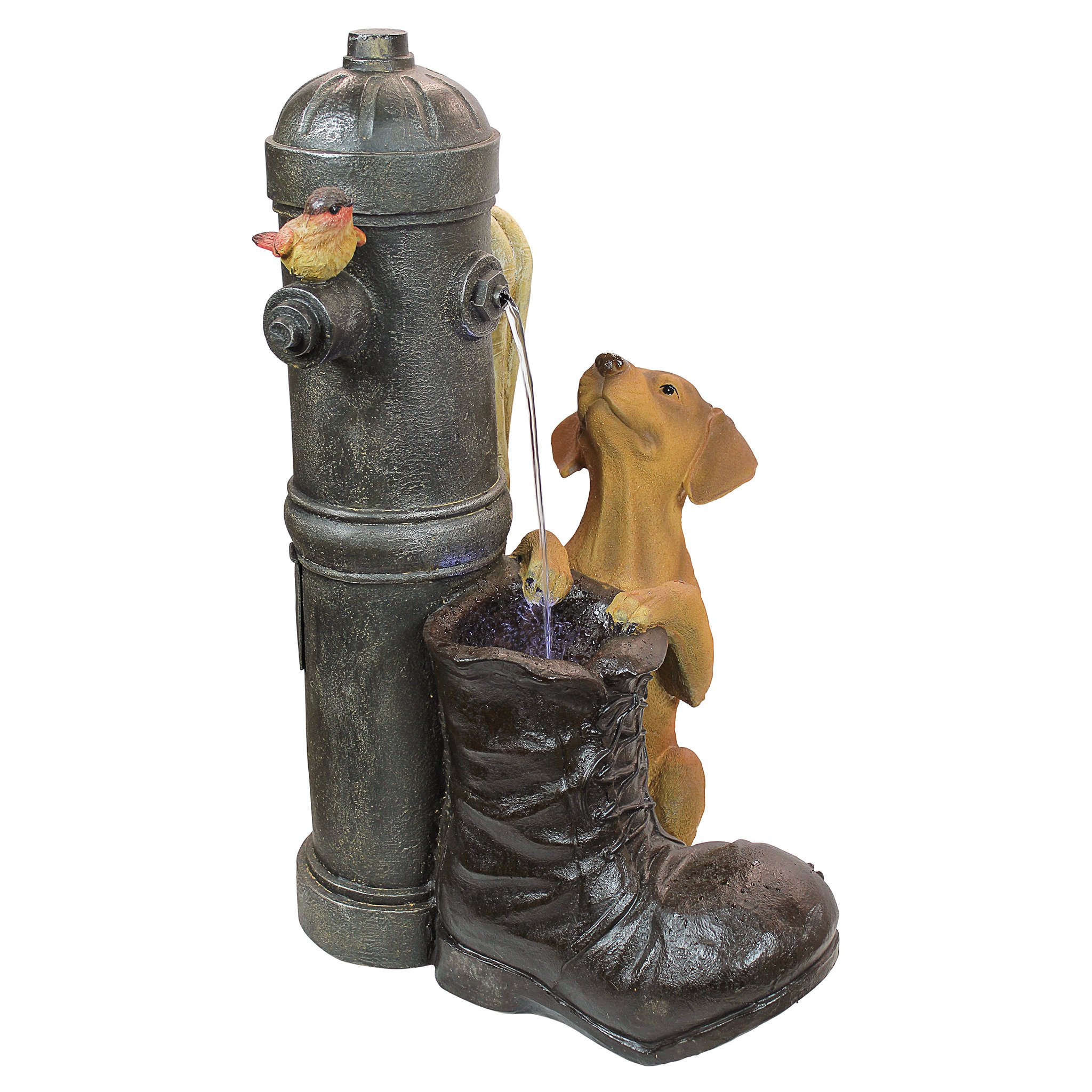 Design Toscano Fire Hydrant Pooch Sculptural Fountain by Design Toscano