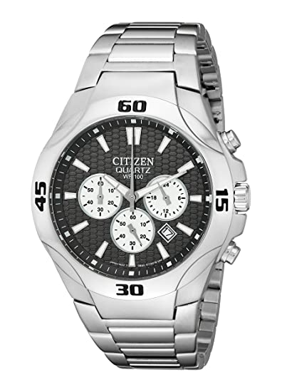 Citizen Hombres de an8020 – 51H Analog Display Japanese quartz Silver Watch