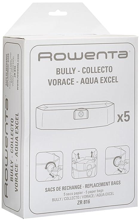 Rowenta ZR816 - Bolsas de papel para Bully, Collecto, Vorace ...