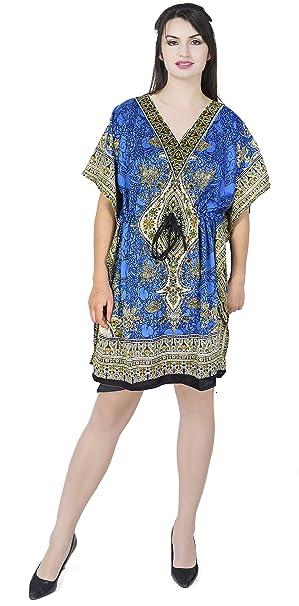 SKAVIJ Mujers Kaftan Bata de Noche sayo Kimono Estilo Vestir Playa Cubrir Arriba Más tamaño: Amazon.es: Ropa y accesorios