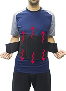 Lumbar Support Back Brace with Self-Heating Magnetic Therapy and Far Infrared Compression Belt Adjustable Waist Support Pain Relief Belt Medium Size