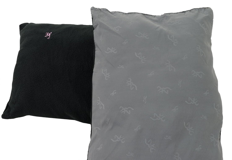 Browning Camping Black Fleece Pillow
