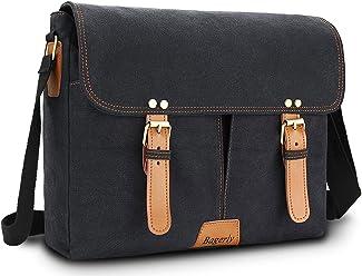 2c59ca7909 Bagerly Canvas Messenger Bag Hob Bag Shoulder Bag Laptop Bag Briefcase Fits  14 inch Laptop Satchel