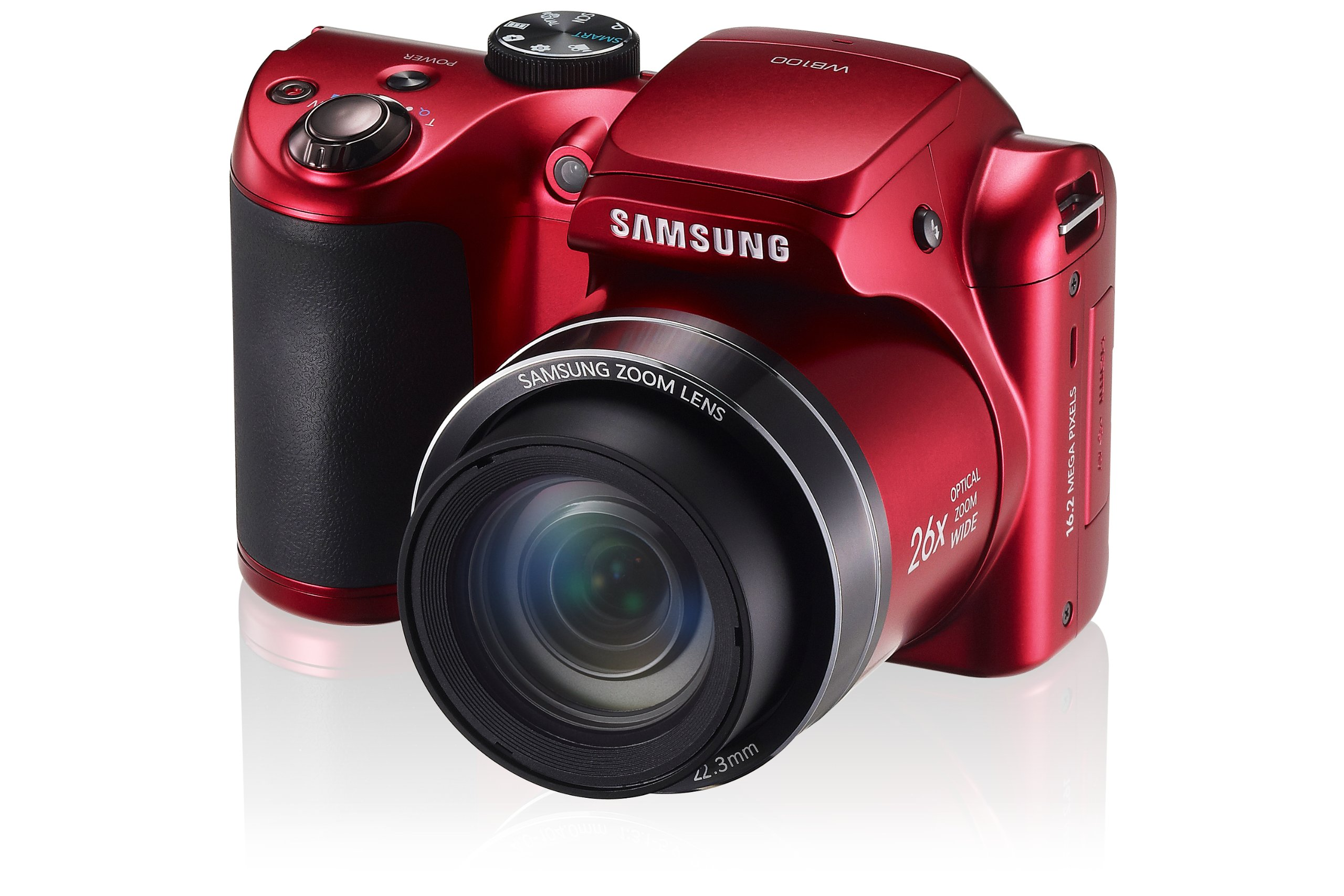 Samsung WB100 Smart Digital Camera (Red)