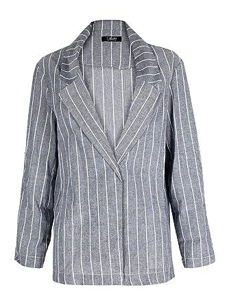 diseño elegante más nuevo mejor calificado mayor selección de 2019 SOLADA Solda Blazer de algodón con Rayas Verticales para ...