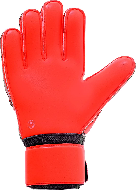 gris fonc/é//rouge fluo//blanc Coupe Classique UHLSPORT Gant gardien football AERORED SUPERSOFT Paume Latex Supersoft