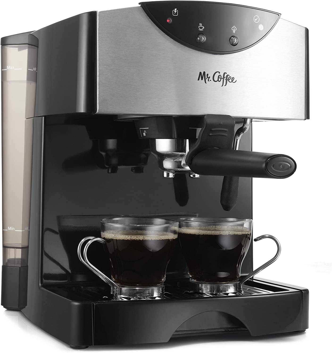 mr. coffee automatic dual shot espresso machine