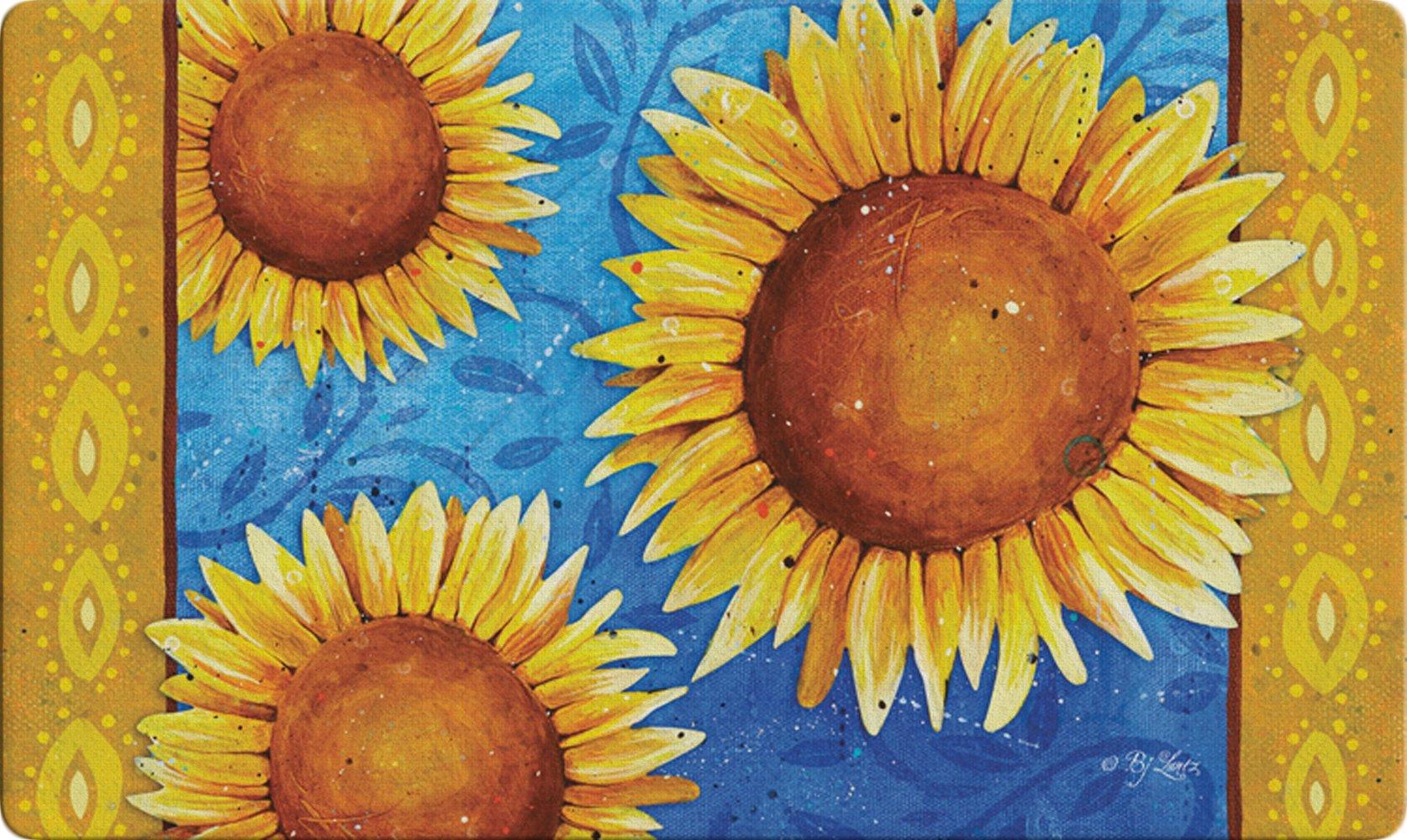 Toland Home Garden Sweet Sunflowers 18 x 30 Inch Decorative Floral Floor Mat Colorful Flower Doormat