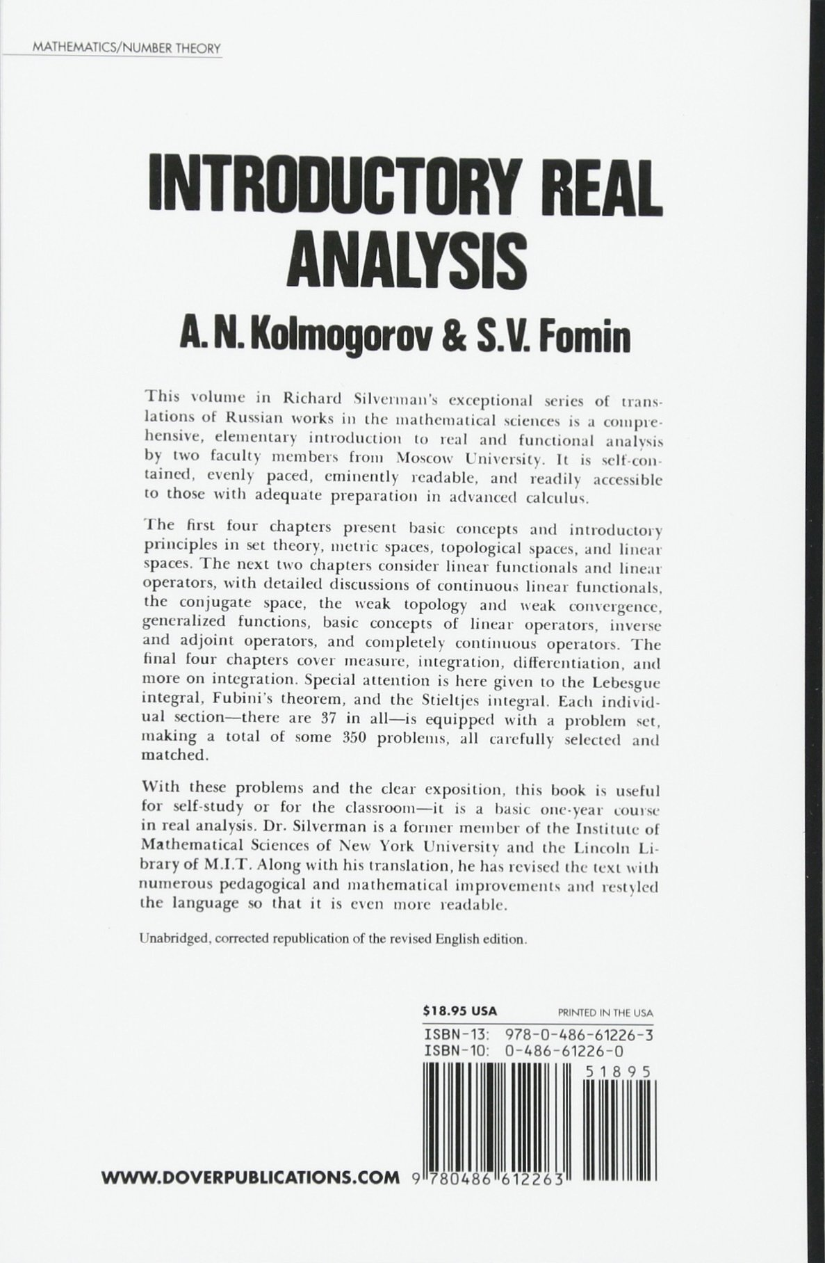 Buy introductory real analysis dover books on mathematics book buy introductory real analysis dover books on mathematics book online at low prices in india introductory real analysis dover books on mathematics fandeluxe Gallery