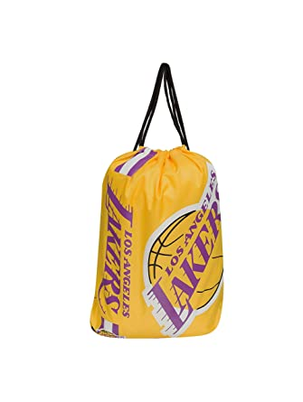 dd95f1265e Forever Collectibles Los Angeles Lakers Cropped Logo Drawstring Backpack Gym