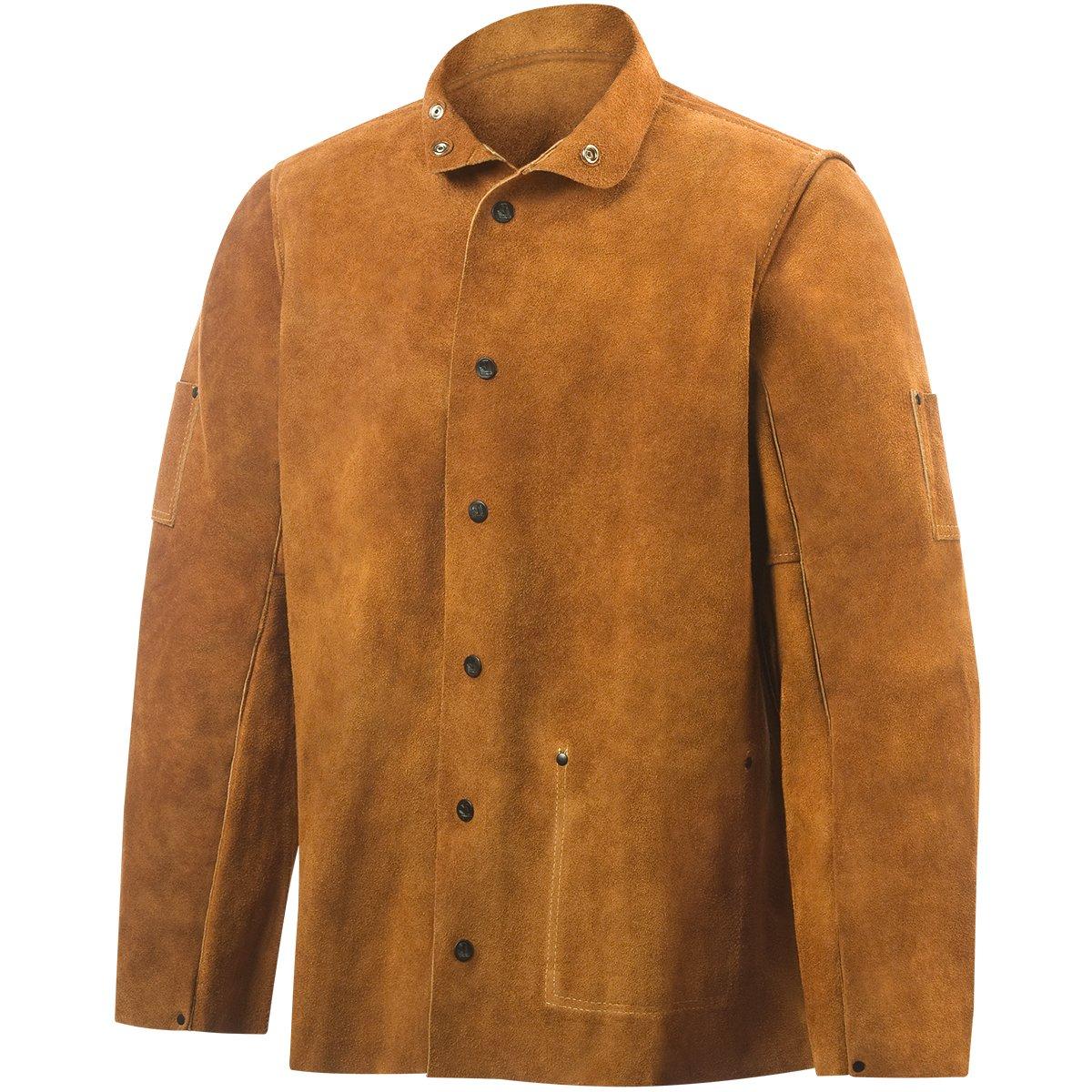 Steiner 9215-X 30-Inch Jacket, Weld-Rite Premium Brown Split Cowhide, Extra Large