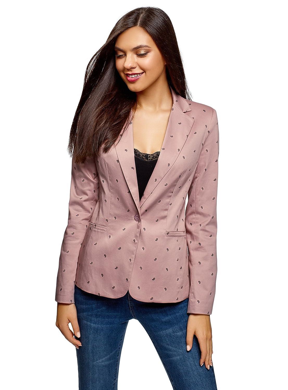 oodji Collection Damen Taillierter Blazer Basic RIFICZECH s.r.o. 21203064-5B