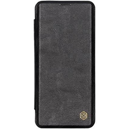 new concept 0be98 2deee Nillkin Qin Series Royal Leather Flip Case Cover for Samsung Galaxy S10  Plus (Black)