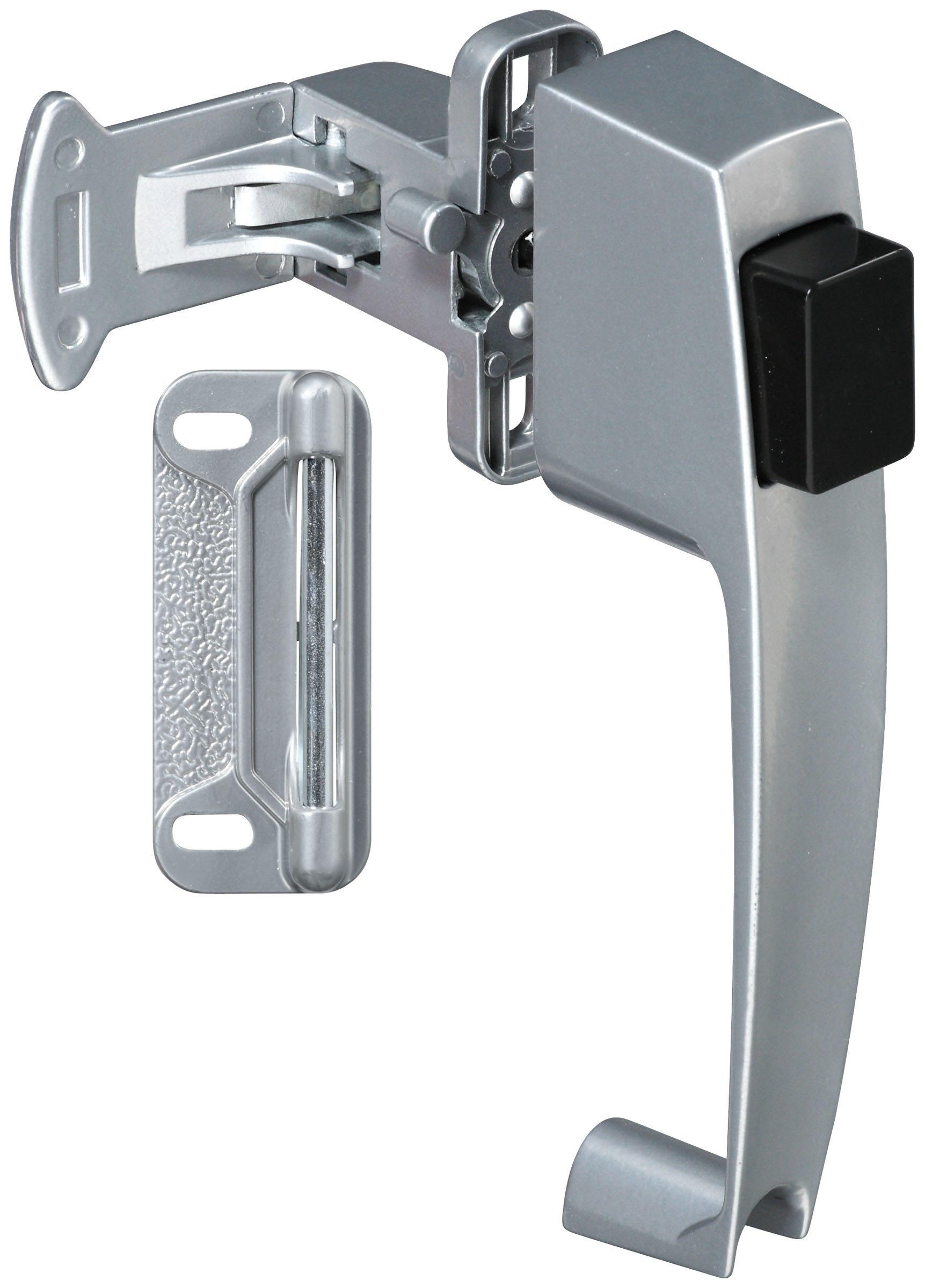 Stanley Hardware S128-033 CD1780 Pushbutton Latch in Clear Coated Aluminum
