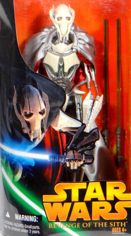 B000GSNQ8E Hasbro Star Wars Revenge of the Sith General Grievous Deluxe Action Figure 81oV87l6o4L.SL1433_
