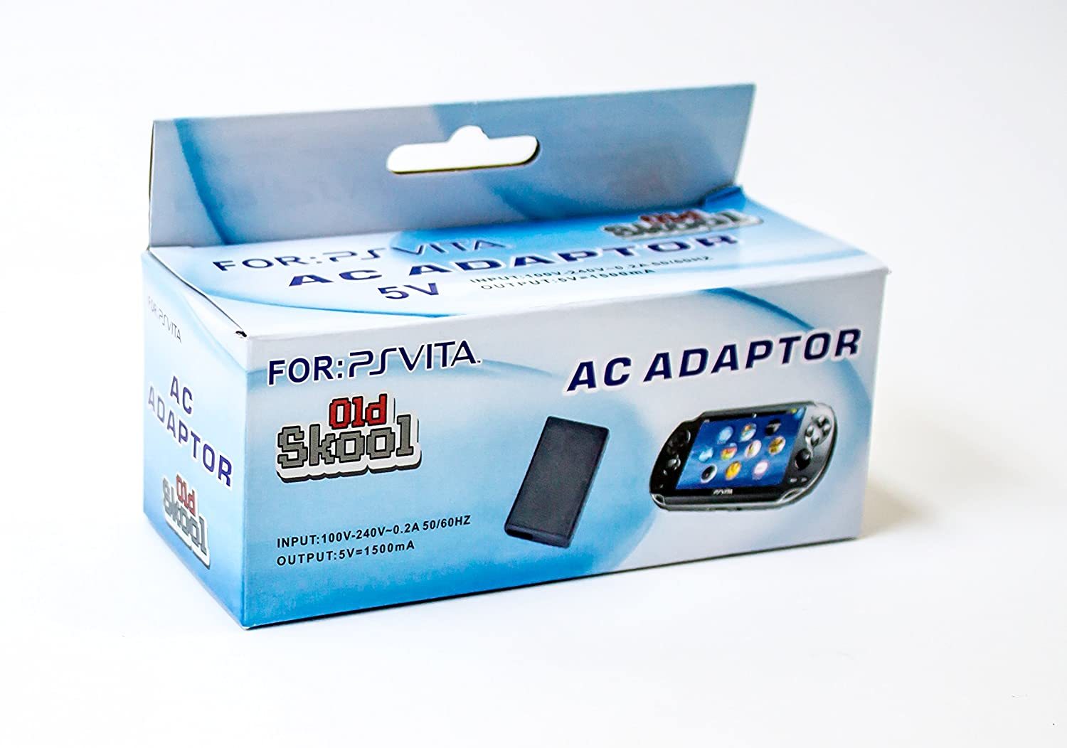 Old Skool PlayStation Vita AC Adaptor with USB Data Cable for PS Vita