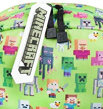 Minecraft Steve Overworld Sprites Green Backpack Polyester Rucksack