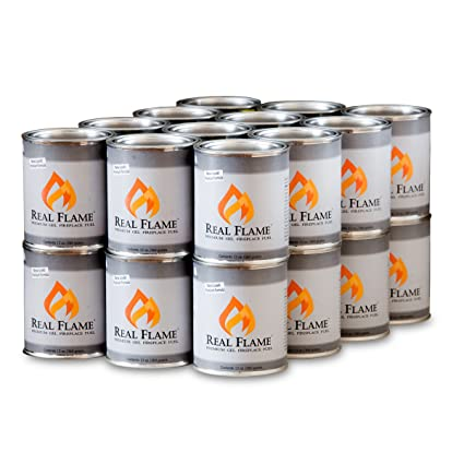 amazon com real flame gel fuel 13 oz cans 24 pack garden outdoor