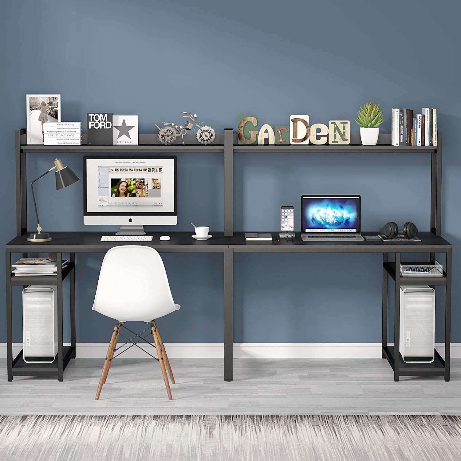 Tribesigns 94.5 inches Computer Desk with Hutch