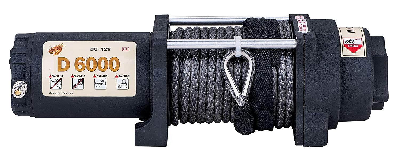 UTV/&ATV Winch with 1//4/〃49/′/(feet/) Synthetic Rope Wireless Remote Control. Sinoking 12VDC 6000lb//2722kg UTV/&ATV Winch with 1//4〃49/′(feet) Synthetic Rope Wireless Remote Control