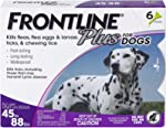 Frontline Plus Flea and Tick Treatment for Dogs (Large Dog, 45-88